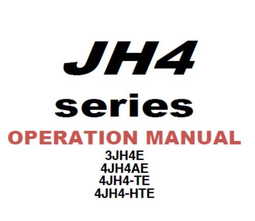 Product picture Yanmar JH4 series operation manual. 3JH4E,4jh4AE,4JH4-TE