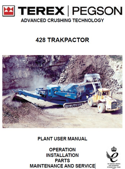 Product picture Terex 428 trakpactor manual