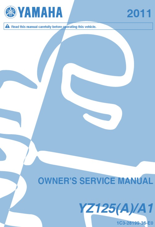 Product picture Yamaha YZ125 2011 service manual