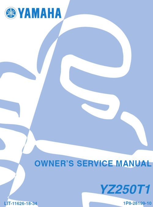 Product picture yamaha YZ250 2005 service manual