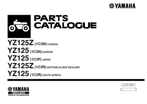 Product picture Yamaha YZ125 2010 parts manual