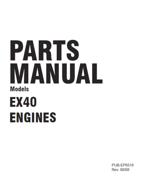 Product picture Robin EX40 parts manual