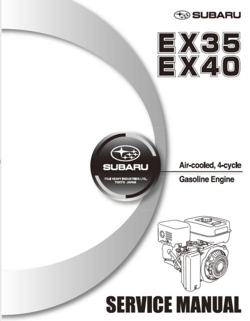 Product picture Subaru EX40 service manual
